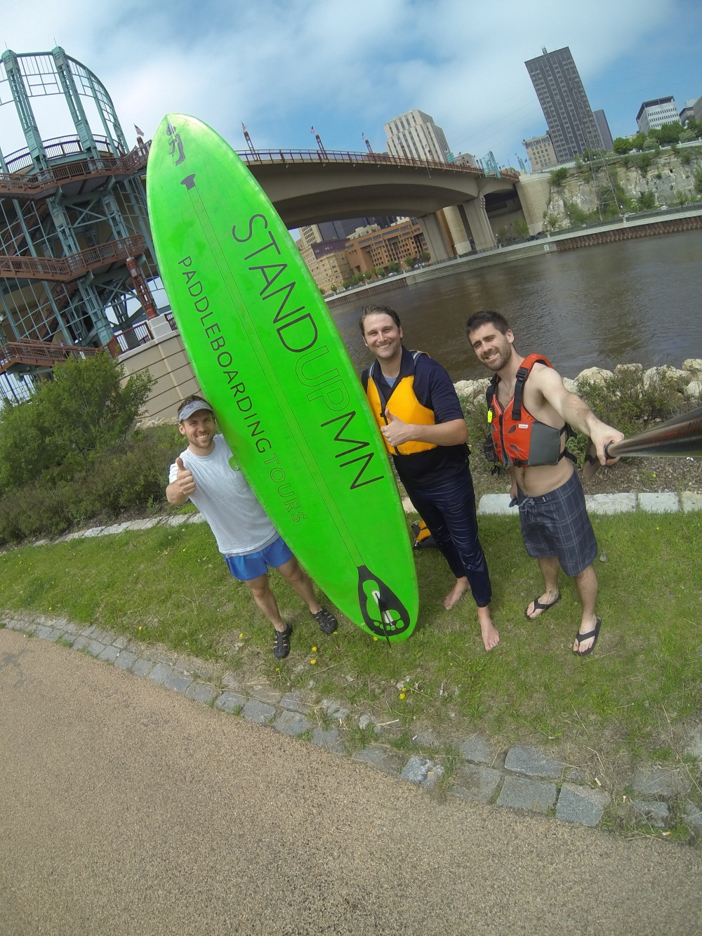 Paddling with WCCO!