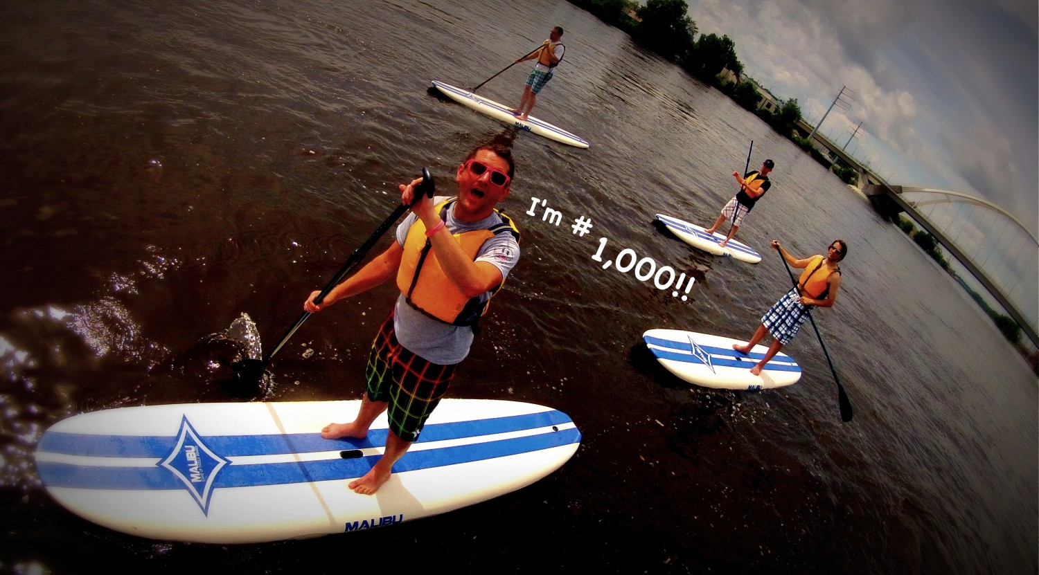 So happy to paddleboard with all of you in the twin cities!