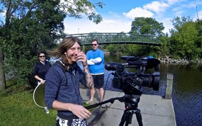 Paddleboarding UNDERNEATH Minneapolis with TV Metro News