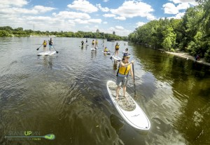 paddleboarding the Mississippi