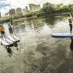 Paddleboarding the MPLS Skyling